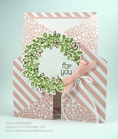 Circle of Spring Double Gate Fold Card shared by Dawn Olchefske  #dostamping #stampinup