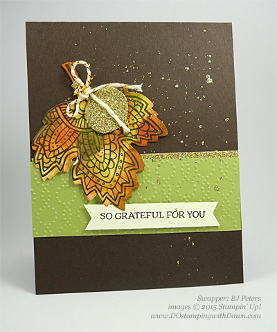 Lighthearted Leaves cards shared by Dawn Olchefske #dostamping #stampinup, Vintage Leaves (BJ Peters)