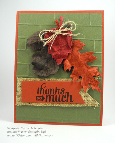 Lighthearted Leaves cards shared by Dawn Olchefske #dostamping #stampinup, Vintage Leaves (Tamie Ackerson)