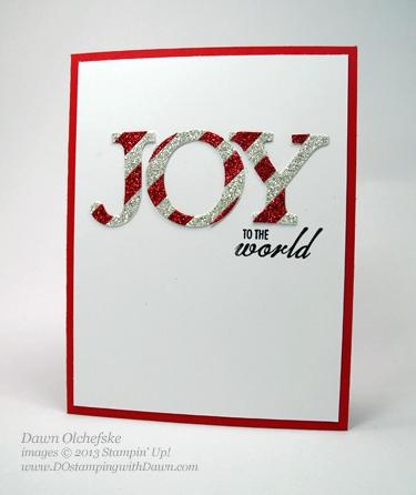 Glimmer Christmas Card shared by Dawn Olchefske #dostamping #stampinup