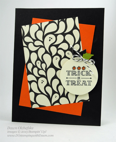 A Little Something Happy Haunting Halloween Card shared by Dawn Olchefske #dostamping #stampinup