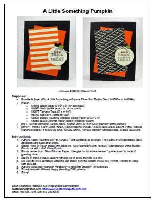 DOstamping sample VIP Newsletter project PDF from Dawn Olchefske #stampinup