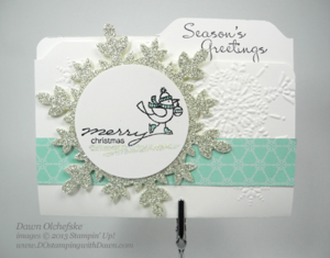Envelope File Folder Card shared by Dawn Olchefske #dostamping #stampinup