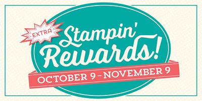10-9 thru 11-9-2015 Extra Stampin' Rewards #stampinup #dostamping