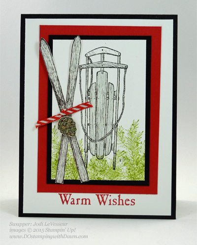 Winter Wishes Holiday Catalog swap cards shared by Dawn Olchefske #dostamping #stampinup (Jodi LeVesseur)
