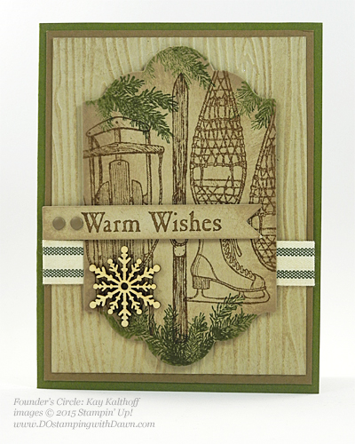 Winter Wishes Holiday Catalog swap cards shared by Dawn Olchefske #dostamping #stampinup (Kay Kalthoff)