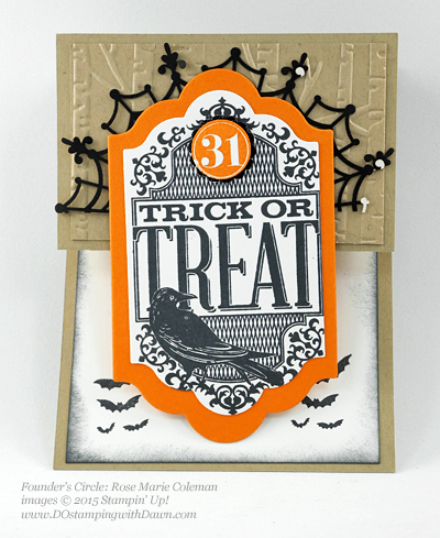 Witches Night swap shared by Dawn Olchefske #dostamping #stampinup (Rose Marie Coleman)