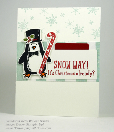 Snow Place Bundle swap cards shared by Dawn Olchefske #dostamping #stampinup (Winona Semler)