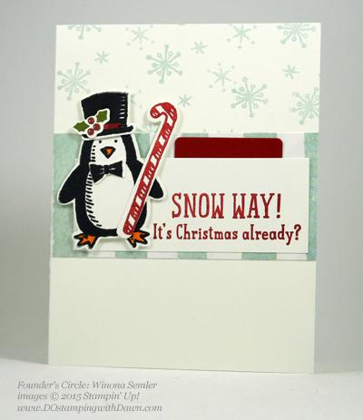 Snow Place Bundle swap cards shared by Dawn Olchefske #dostamping #stampinup (Winona Semler)