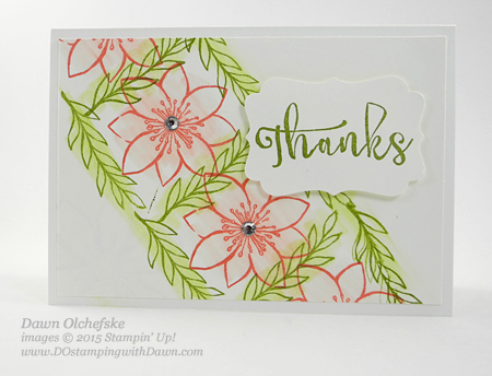 October 2015 Blissful Bouquet Paper Pumpkin alternate ideas PDF by Dawn Olchefske  #dostamping #stampinup