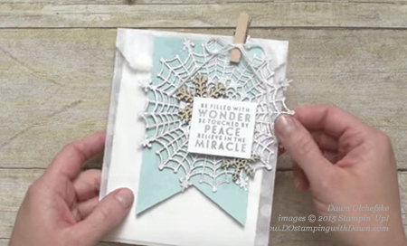 Spider Web Doily ideas shared by Dawn Olchefske #dostamping #stampinup
