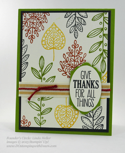 Lighthearted Leaves card shared by Dawn Olchefske #dostamping #stampinup (Linda Heller)