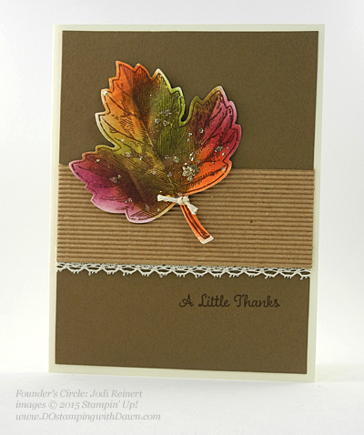 Vintage Leaves card shared by Dawn Olchefske #dostamping #stampinup (Jodi Reinert)