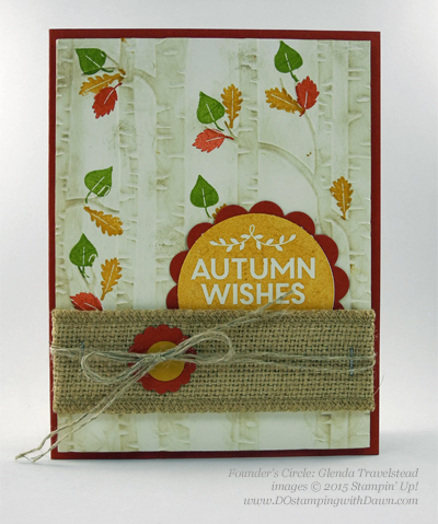 Among the Branches card shared by Dawn Olchefske #dostamping #stampinup (Glenda Travelstead)
