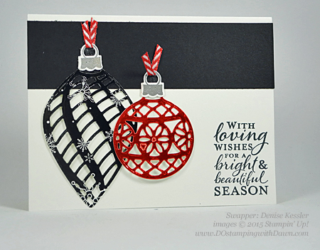 Embellished Ornament Bundle samples shared by Dawn Olchefske #dostamping #stampinup (Denise Kessler)