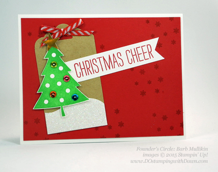 Cheer All Year swap card shared by Dawn Olchefske #dostamping #stampinup (Barb Mullikin)