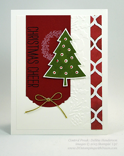Cheer All Year swap card shared by Dawn Olchefske #dostamping #stampinup (Debbie Henderson)