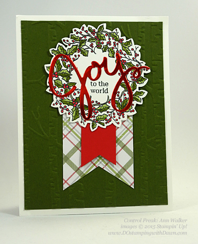 Peaceful Wreath swap card shared by Dawn Olchefske #dostamping #stampinup (Ann Walker)