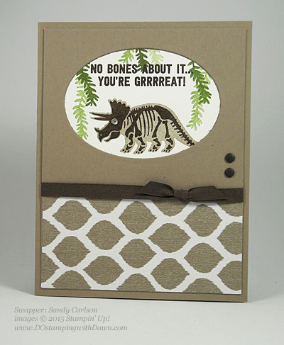 No Bones About It card shared by Dawn Olchefske #dostamping #stampinup (Sandy Carlson)