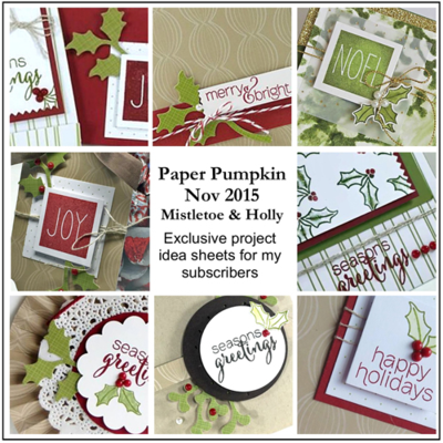 November 2015 Mistletoe & Holly Paper Pumpkin alternate ideas by Dawn Olchefske  #dostamping #stampinup