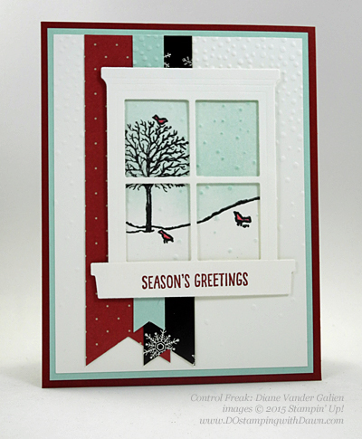 Happy Scenes, Hearth & Home Thinlits swap card shared by Dawn Olchefske #dostamping #stampinup (Diane Vander Galien)