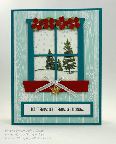 Happy Scenes, Hearth & Home Thinlits swap card shared by Dawn Olchefske #dostamping #stampinup (Judy DiScipio)