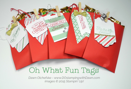 Oh What Fun Tags project kit ideas share by Dawn Olchefske #dostamping #stampinup