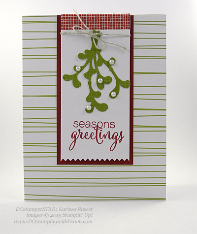 DOstamperSTARS Holiday Cards shared by Dawn Olchefske #dostamping #stampinup (Karissa Rasset)
