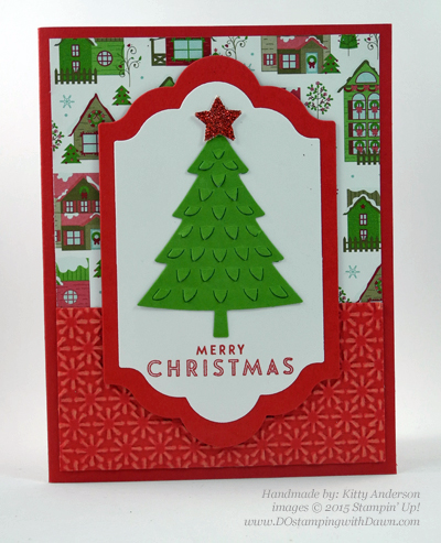 Handmade Christmas cards shared by Dawn Olchefske #dostamping #stampinup (Kitty Anderson)