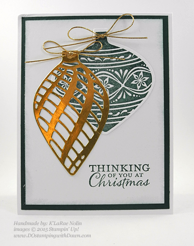 Handmade Christmas cards shared by Dawn Olchefske #dostamping #stampinup (K'LaRae Nolin)