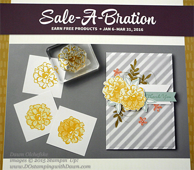 Milwaukee On Stage Display What I Love Sale-a-Bration stamp set shared by Dawn Olchefske, #dostamping #stampinup