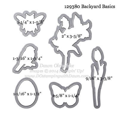 Backyard Basics Framelit sizes shared by Dawn Olchefske #dostamping #stampinup