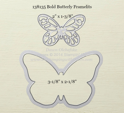 Bold Butterfly Framelit sizes shared by Dawn Olchefske #dostamping #stampinup