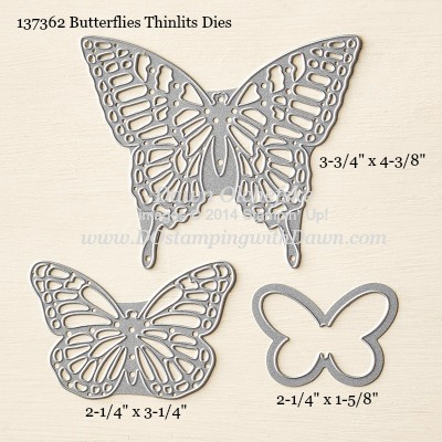 Butterflies Thinlits Dies sizes shared by Dawn Olchefske #dostamping #stampinup