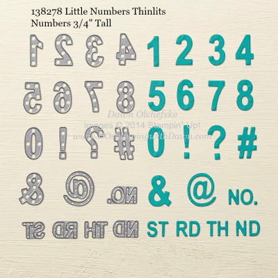 Little Numbers Thinlits sizes shared by Dawn Olchefske #dostamping #stampinup
