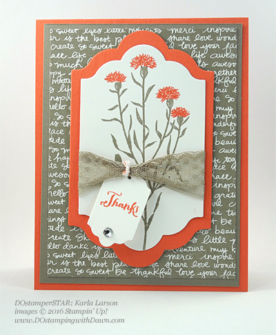 Milwaukee On Stage swap cards shared by Dawn Olchefske #dostamping #stampinup (Karla Larson)