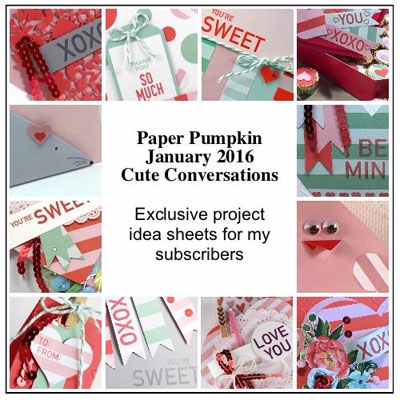 January 2016 Cute Conversations Paper Pumpkin alternate ideas bonus by Dawn Olchefske  #dostamping #stampinup