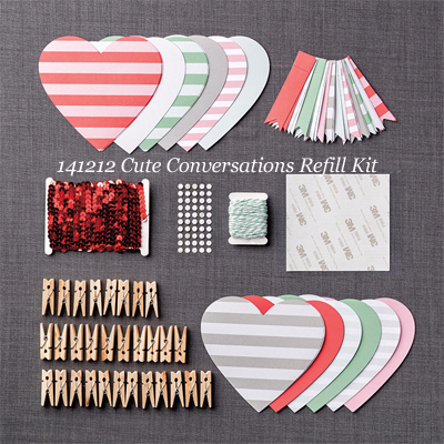 141212 Cute Conversations Refill Kit for Jan 2015 Paper Pumpkin #dostamping #stampinup