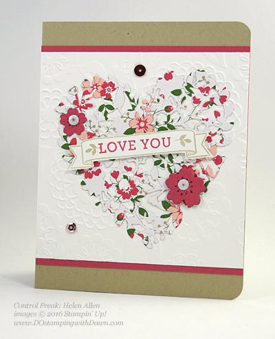 Bloomin' Love Swap Card Shared by Dawn Olchefske #dostamping #stampinup Helen Allen
