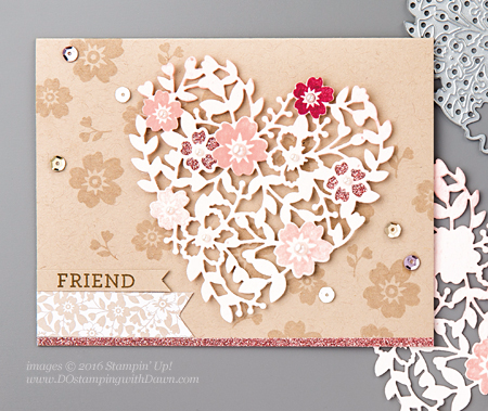 Bloomin' Love Card Shared by Dawn Olchefske #dostamping #stampinup