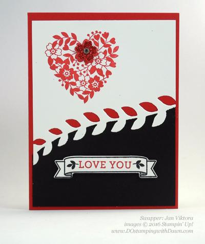 Bloomin' Love Swap Card Shared by Dawn Olchefske #dostamping #stampinup (Jan Viktora)