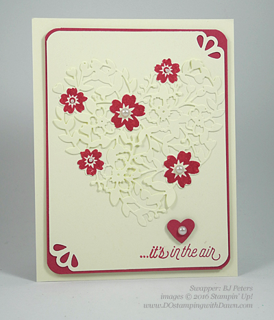 Bloomin' Love Swap Card Shared by Dawn Olchefske #dostamping #stampinup (BJ Peters)