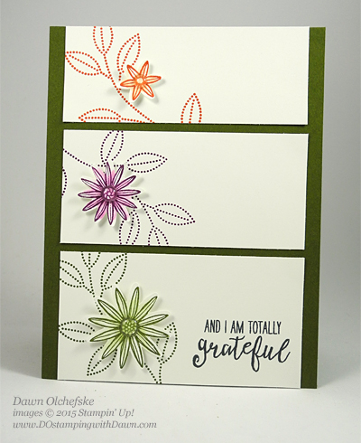2016 Occasions Catalog Grateful Bunch card created by Dawn Olchefske #dostamping #stampinup