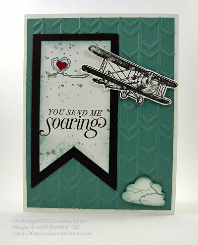 Sky is the Limit Sale-a-Bration card swap shared by Dawn Olchefske #dostamping #stampinup (Anna Palmer)