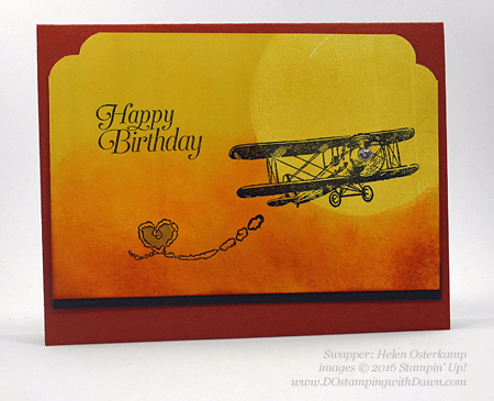 Sky is the Limit Sale-a-Bration card swap shared by Dawn Olchefske #dostamping #stampinup (Helen Osterkamp)