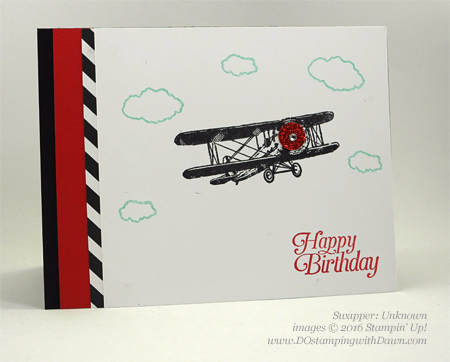 Sky is the Limit Sale-a-Bration card swap shared by Dawn Olchefske #dostamping #stampinup
