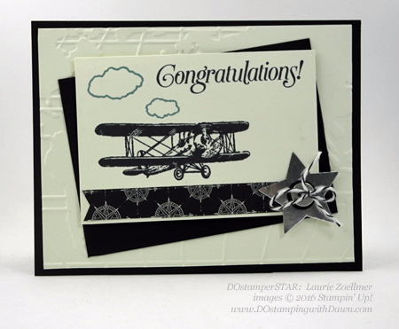 Sky is the Limit Sale-a-Bration card swap shared by Dawn Olchefske #dostamping #stampinup (Laurie Zoellmer)