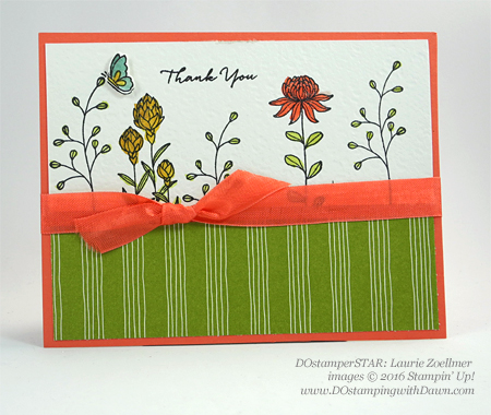 Flowering  Fields card by Laurie Zoellmer shared by Dawn Olchefske #dostamping #stampinup