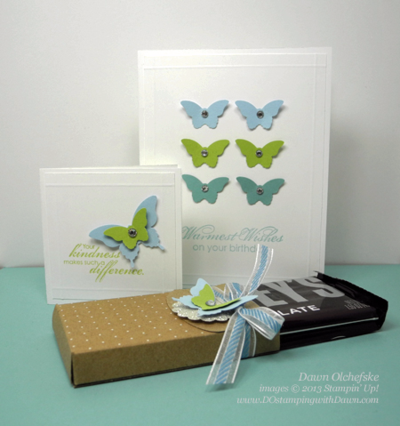 2/16/16 Weekly Deal Bitty Butterfly Punch card by Dawn Olchefske #DOstamping #stampinup