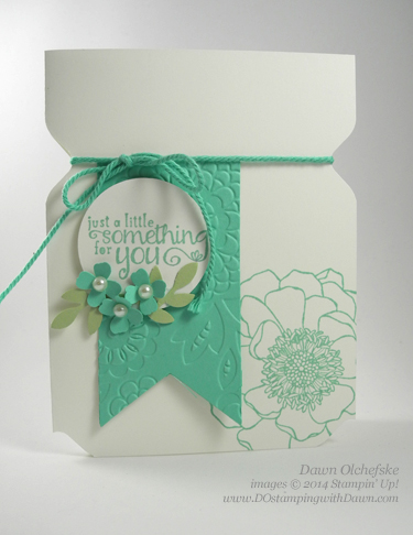"Weekly Deal Envelope Punch Board ""Jar"" Card by Dawn Olchefske #DOstamping #stampinup"
